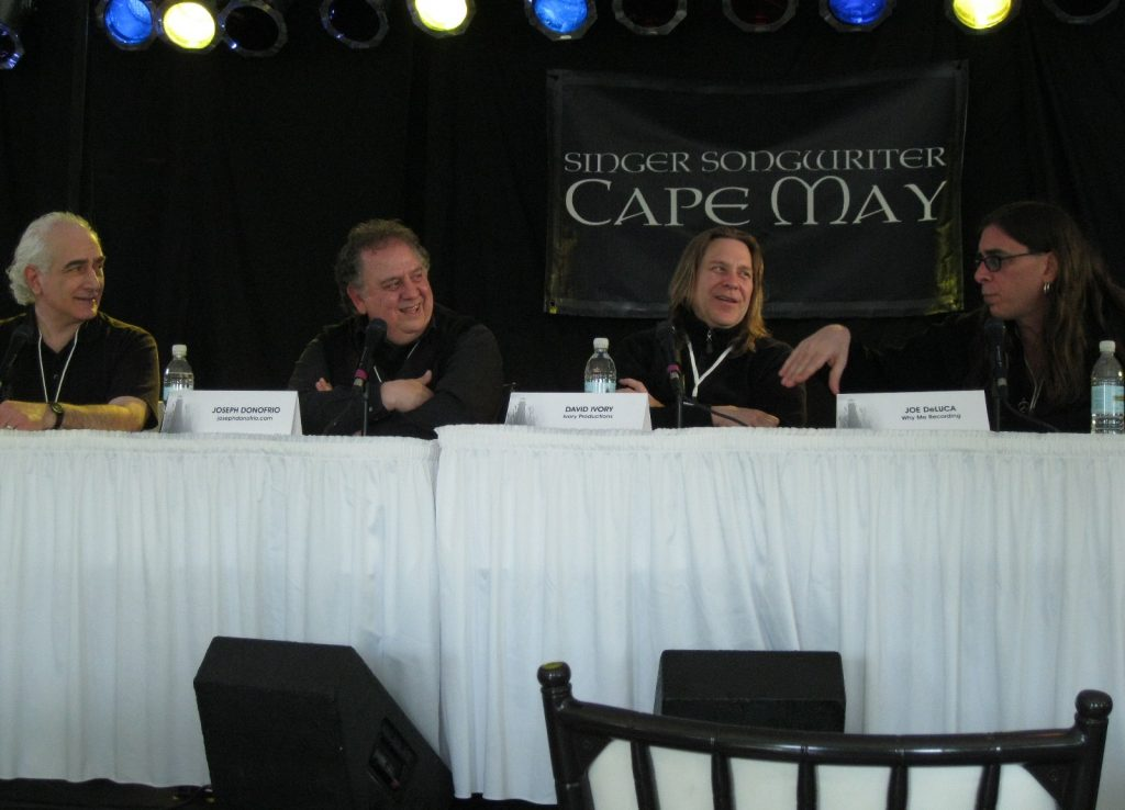 """Producer's Panel"" at Singer Songwriter Cape May conference - deLise, Donofrio, Ivory, DeLucca"